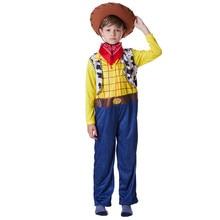 El Sheriff Woody juguete historia Woody Cosplay niños vaquero conjuntos de  pijamas de fiesta de Halloween traje 9ffc03ef8f3