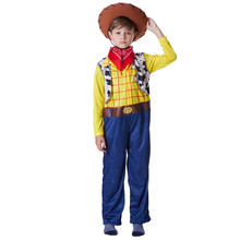 Xerife Woody Toy Story Traje Cosplay Lenhosa Cowboy Crianças Pijama Define Traje  Festa de Halloween Presente 0cf46158bb6