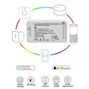 Image 4 - ZIGBEE Led コントローラエコー互換スマート LED コントローラ RGBCCT/WW/CW zigbee の Led 調光コントローラー DC12 24V ZLL コントローラ led