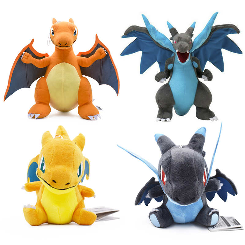Anime 5 Style Charizard Catoon Plush Toys Doll Charizards Center Mega Evolution Soft Stuffed Animal Children Dolls Gift