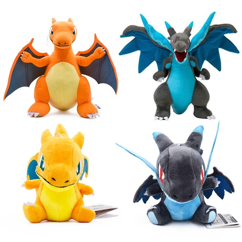 Anime 5 Style Charizard Catoon Plush Toys Doll Charizards Center Mega Evolution Soft Stuffed Animal Children Dolls Gift