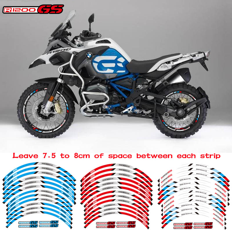 Motorcycles Wheel Stickers Reflective Rim Moto Stripe Tape For BMW R1200GS ADVENTURE 19''17''