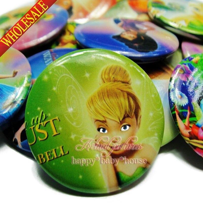 Intelligent Mode 18 Teile/satz Fee Tinker Glocke Schöne Knöpfe Abzeichen, 30mm Cartoon Charakter Abzeichen. Kleidung Taschen Reise Zubehör Kinder Geschenke Verkaufspreis