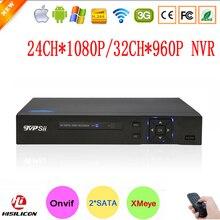 Hi3535 Puce Bleu-Ray Cas Deux Sata Port XMeye 1080 Plein HD 24CH 24 Channel Surveillance Vidéo Enregistreur Onvif NVR Livraison gratuite