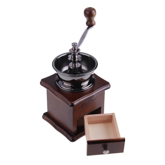 Coffee Grinder Retro Wood Design cool kitchen stuff