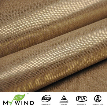 promotion ligth gold beige grasscloth paper weave wall paper textured natural fabric wallpaper for living room home decoration