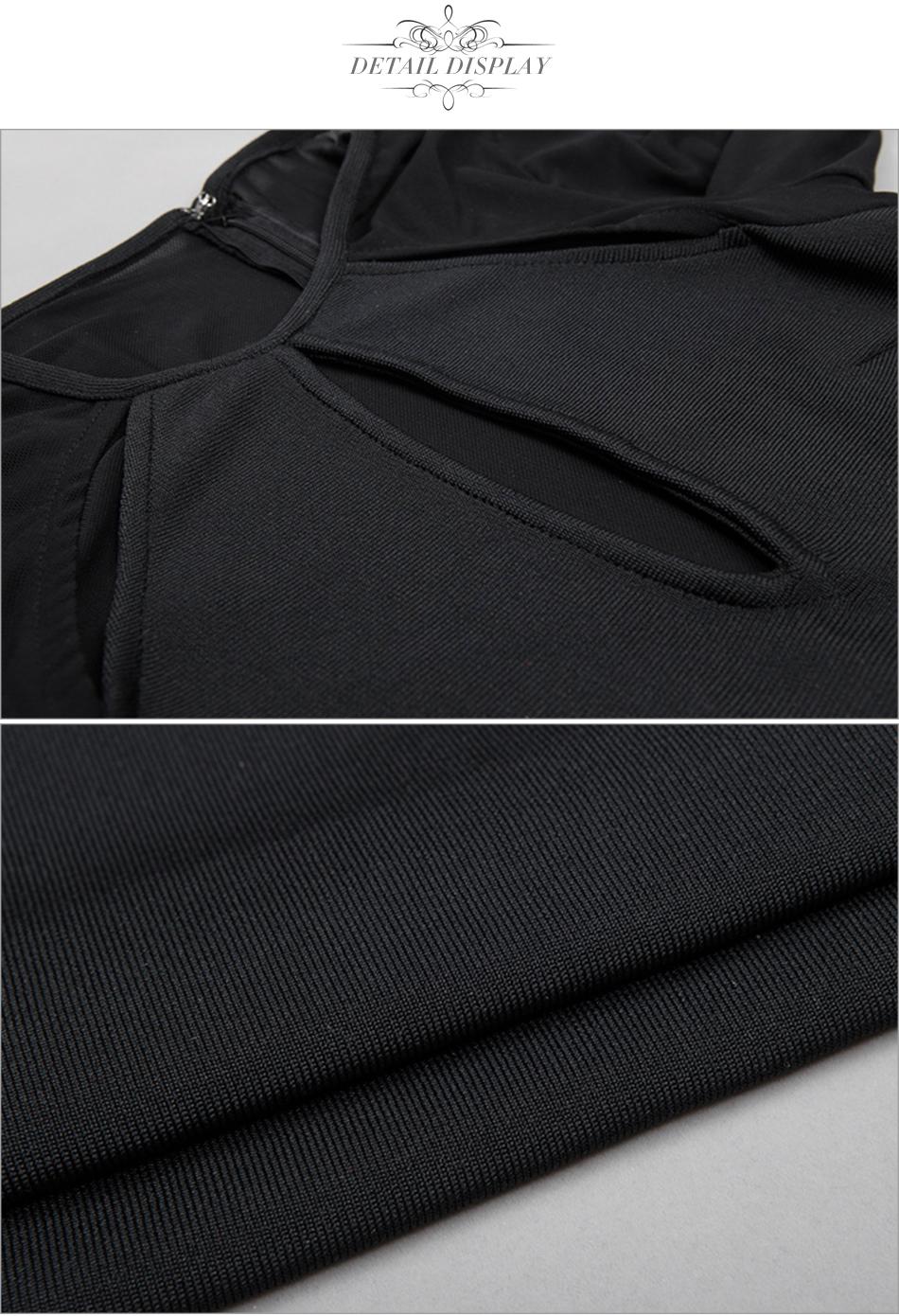 Black Red Blue O Neck Long Sleeve Bandage Dress