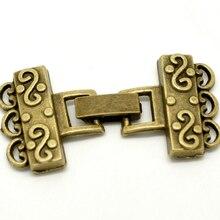 """DoreenBeads 5 комплектов Античная бронза концевые колпачки для браслетов/Колье 4,6x2,3 см(1-3/"""" x7/8"""")(B18347), иу"""