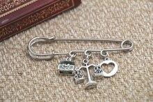 12pcs Shakespeare inspired Merchant of Venice themed charm kilt pin brooch 38mm