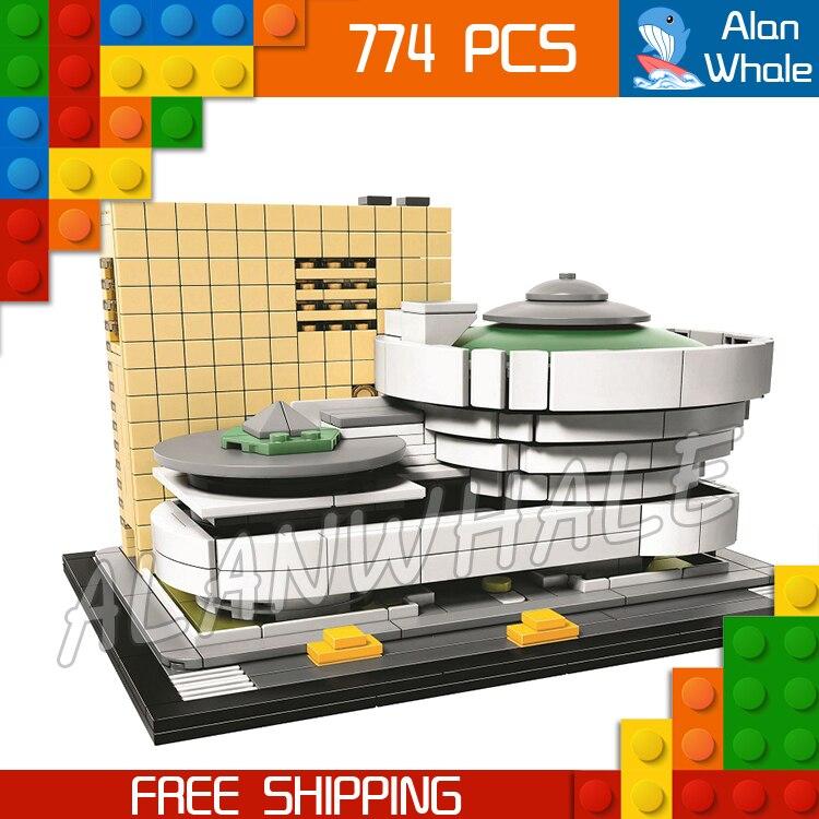 744 pièces Architecture salomon R Guggenheim musée modèle blocs de construction 10679 assembler enfants jouets briques compatibles avec