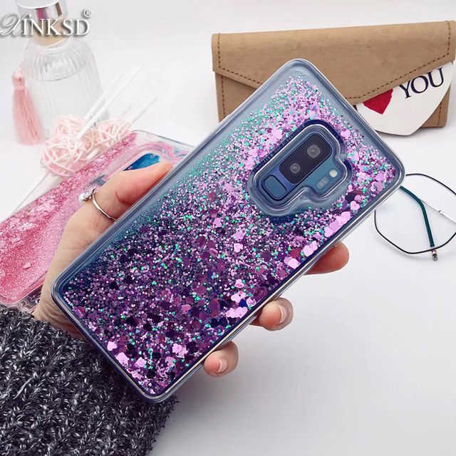 reputable site 50f11 08e8a US $2.47 38% OFF|for Samsung Galaxy S9 case Back cover Bling Glitter  Dynamic Quicksand Liquid Case for samsung S9 plus cover Galaxy S9 coque-in  Fitted ...