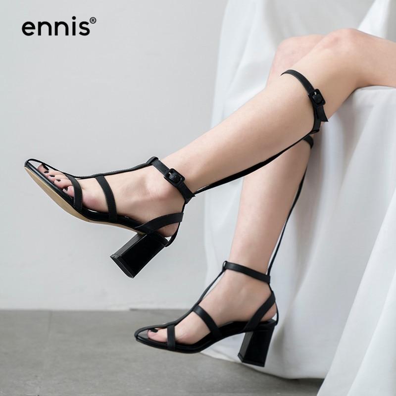 Lurryly Summer Womens Sandals Retro Buckle-Strap Sandals Flat Bottom Roman Ladies Shoes