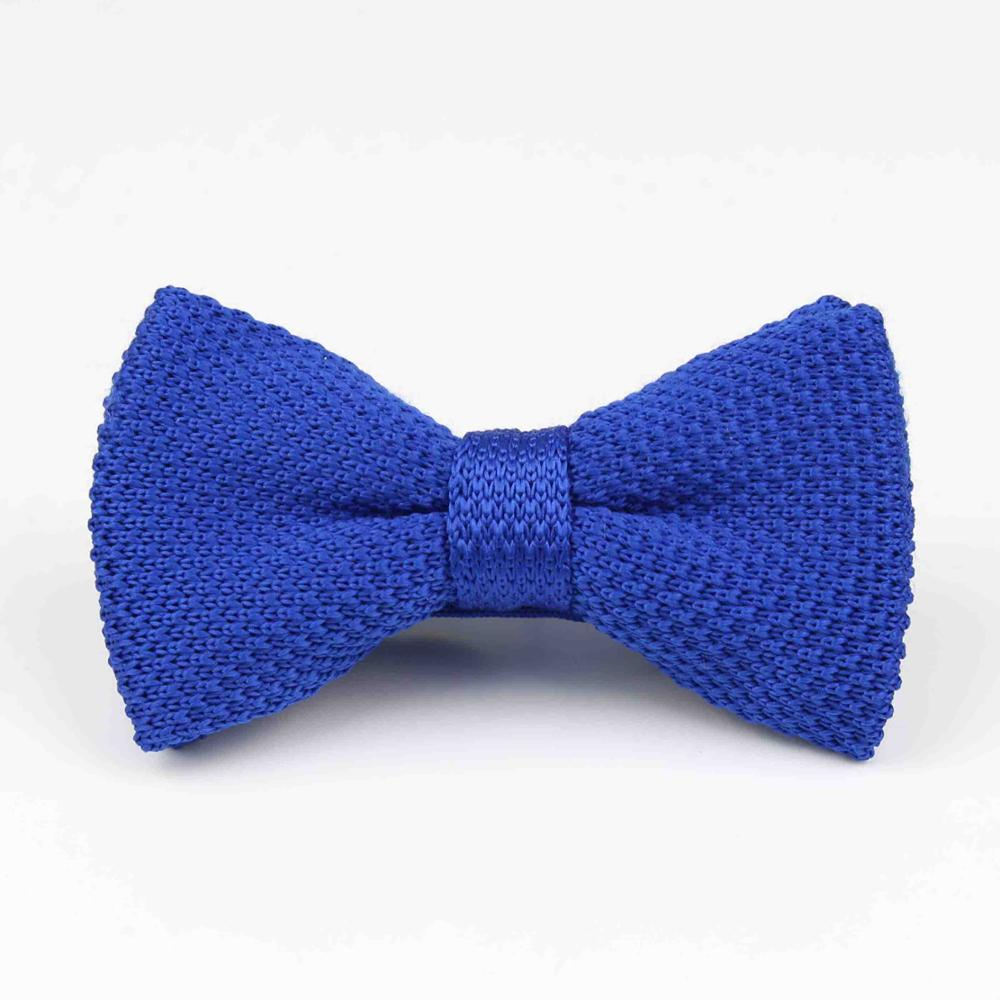 Мужские галстуки для шеи, смокинг, вязаная бабочка, Одноцветный галстук-бабочка, толстый двухслойный предварительно завязанный Регулируемый вязаный Повседневный галстук - Цвет: 31