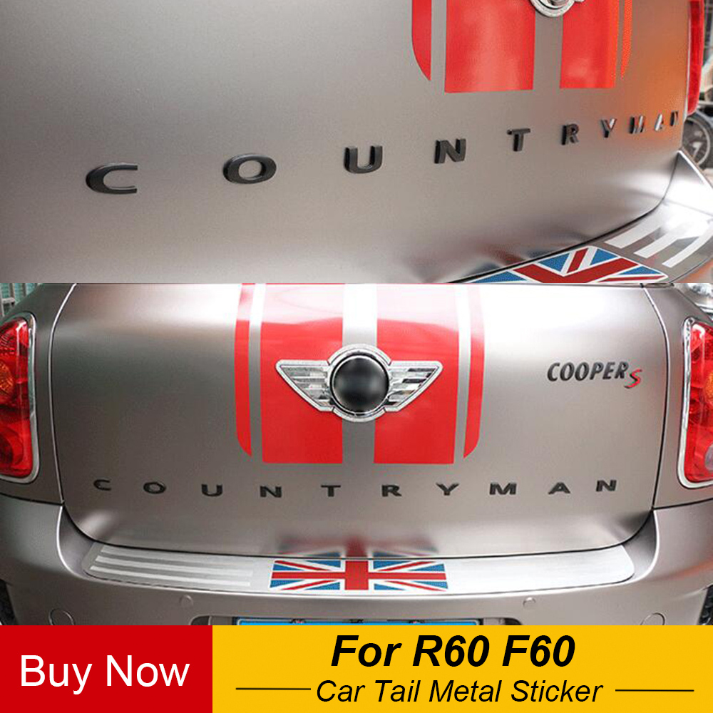 Car Tail Metal 3D Letters Sticker And Emblem Rear Trunk For MINI Cooper Countryman R60 F60 Car Styling Accessories