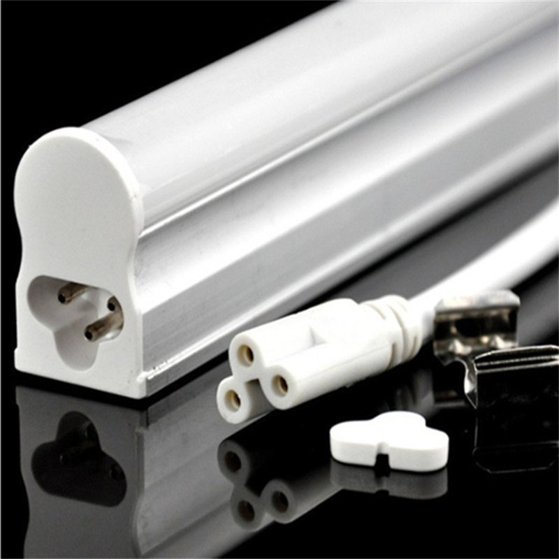 Smuxi LED Tube T5 Light 220V 30CM 5W SMD 2835 LED Fluorescent Tube T5 Wall Lamps White T5 Bulb Light Clear Cover