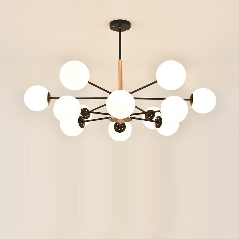 Потолочная люстра современная стеклянная лампа тенты Люстра Свет Nordic столовая кухня висит блеск освещение ретро современный
