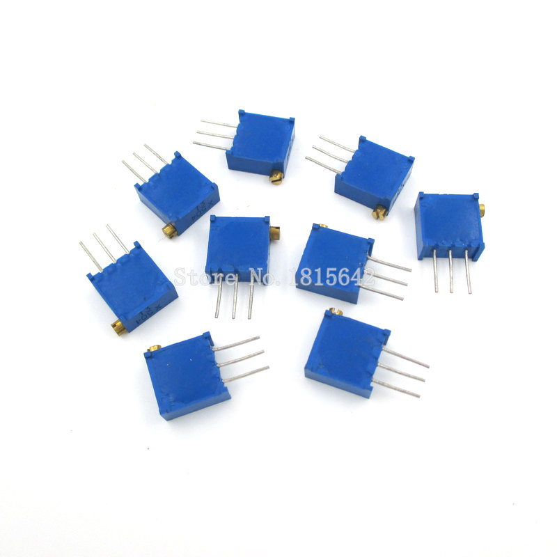 Galleria fotografica 20PCS/LOT 3296X-101 Side Adjustable Precision Multi Ring Potent 3296X-1-101 100R Ohm 3296X Multiturn Trimmer Potentiometer X101