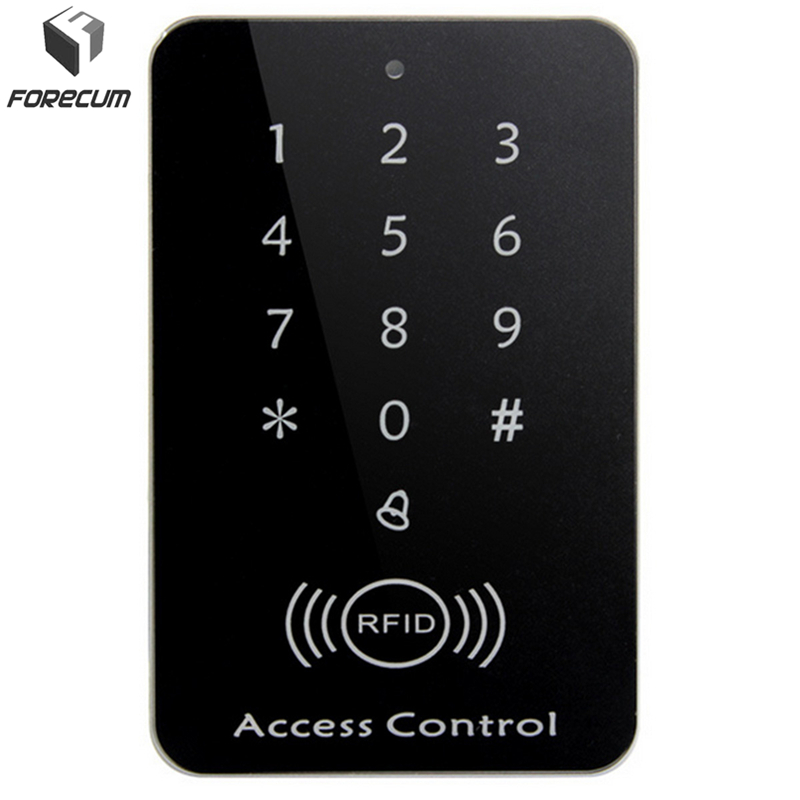 FORECUM Rfid Lock System 125KHz Door RFID Card Password Access Controller with Keypad Machine Controller Keypad ID Card Reader diysecur metal case touch button 125khz rfid card reader door access controller system password keypad c20