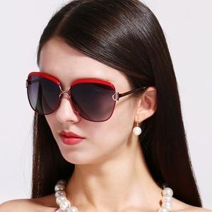 Image 2 - מקורי כוכב סגנון HD מקוטב נשים יוקרה משקפי שמש גבירותיי מותג מעצב מגניב האחרון נקבה HD UV400 שמש משקפיים gafas