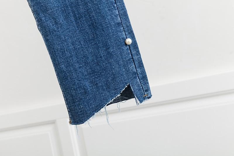Modo Abbigliamento Denim Della Di Jeans 2019 Più Formato Pantaloni Matita Stretch Casual Allentato Primavera D6 Blu Donne Dei 2931 nBYzYw6q