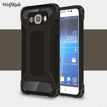 WolfRule Case For Samsung Galaxy J7 2016 Coque Dual Layer Armor TPU & PC Case For Samsung J7 2016 J710 Cover Phone Fundas