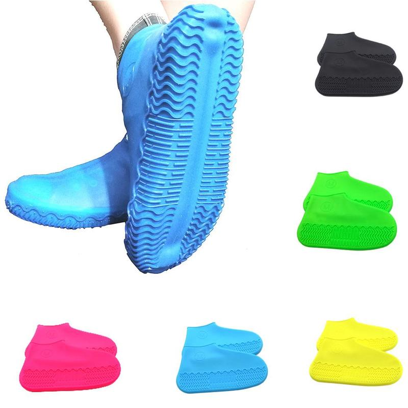 Recyclable Silicone Overshoes Reusable Waterproof Rainproof Men Shoes Covers Rain Boots Non-slip Washable Unisex Wear-Resistant