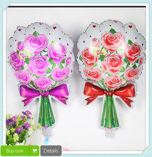 1pc Romantic Red Pink Bouquet of Roses Balloon Birthday baloes Party balon wedding decoration valentine helium