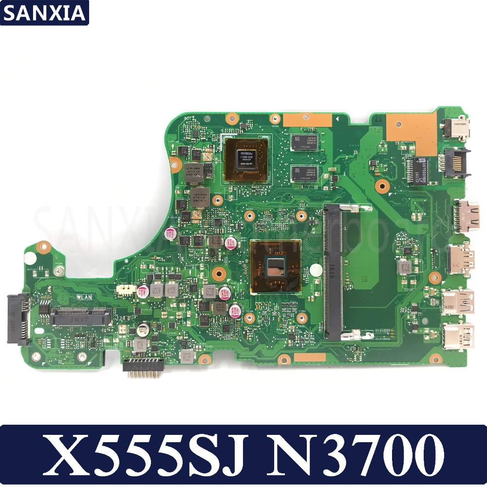 KEFU X555SJ Laptop Motherboard For ASUS For ASUS X555SJ X555S X555SJ A555S X555 Test Original Mainboard N3700 GT920M-2G