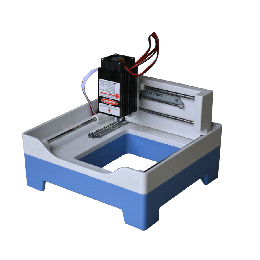 Nuova mini macchina per incisione laser Incisore laser fai-da-te 1000mw Area di incisione 69 * 68mm Macchina per incisore USB Applica a XP Win7 Win8