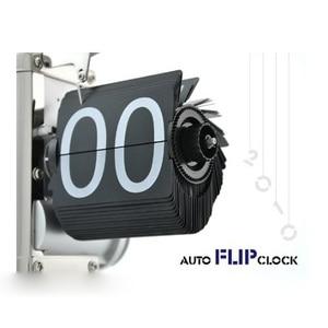 NOCM Black Retro Flip Down Clock-Internal Gear Operated Flip Home Clock USA Shipping(China)