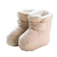 Warm Cotton Baby Shoes Infants Crochet Knit Fleece Boots Wool Snow Crib Shoes Toddler Boy Girl
