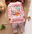 New 2014 autumn baby sets baby girls apparel long sleeved shirt and pants casual suit kid's clothing set for baby girl