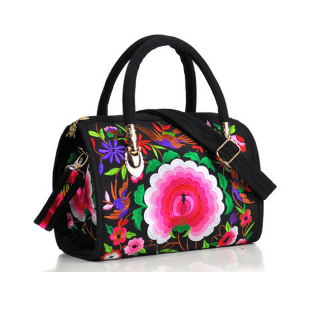 73d5d190761 XIYUAN Beautiful Women's Peony Bag Bucket Handbags Double Floral Ladies  Canvas Handbag With Best Chinese Style Embroidery Bags