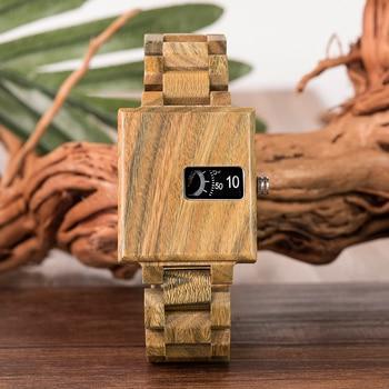 BOBO BIRD New Design Watch Men Ebony Wooden Delicate Square Timepiece Relogio Masculino Birthday Gift to him Drop Shipping J-R23