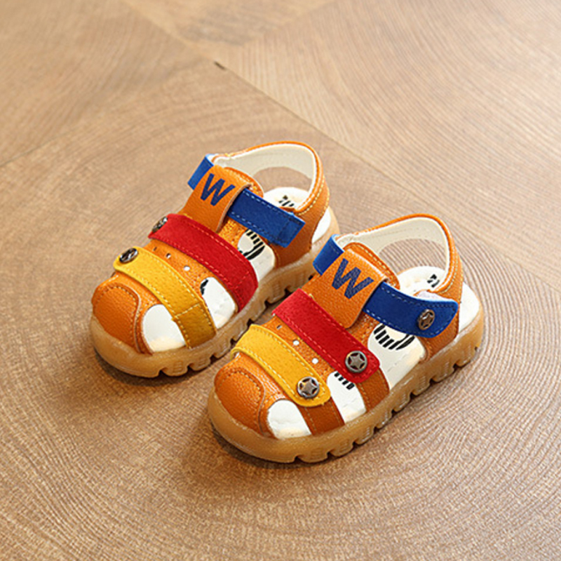 New Summer Children Non=slip Beach Sandals Kids Female Male Cow Muscle Leather Sandals for Girls Boys Baby Toddler Shoes