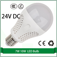 24 volt dc led bulbs 7W 10W bulb solar panel bulb 24 volt led lamp led 24v e27 e26 B22 lampada