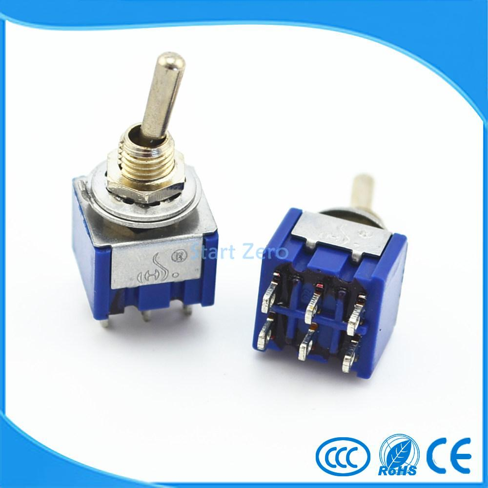 10pcs 6 Pin 3 Position On Off Dpdt Mini Latching Toggle Switch Ac Details About Push Button 3a 250v 1 Circuit 125v 6a In Switches From Lights Lighting Alibaba Group
