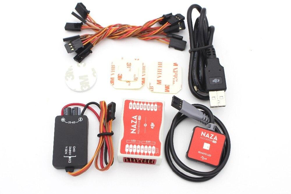 Original DJI Naza M Lite Multi Flyer Flight Control Controller & LED & stand holder (without M8N GPS) ublox m8n gps compatible with dji naza lite v1 v2 flight controller phantom 1 2 vision
