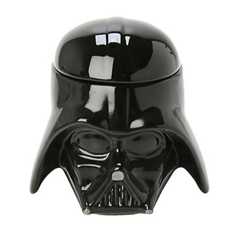 Classic Star Wars Mug Stormtrooper Darth Vader Helmet Mug 3d Ceramic Water Tea Coffee Drinks Cup With Lid Handgrip Drinkware