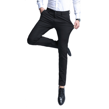 2019 Men'S New Business Casual Trousers High Quality Fashion Simple Slim Wild Men'S Solid Color Suit Pants