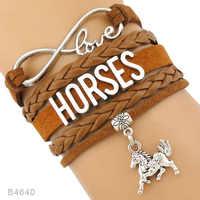 Friendship Love Horse Doctor Kentucky Derby Equestrian Arabian Horses Racing Eventing Horseshoes Horses Bracelets for Women