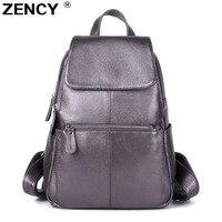 13 цветов ZENCY рюкзак из натуральной кожи наивысшего качества женские первый слой коровьей кожи школьный стиль рюкзаки