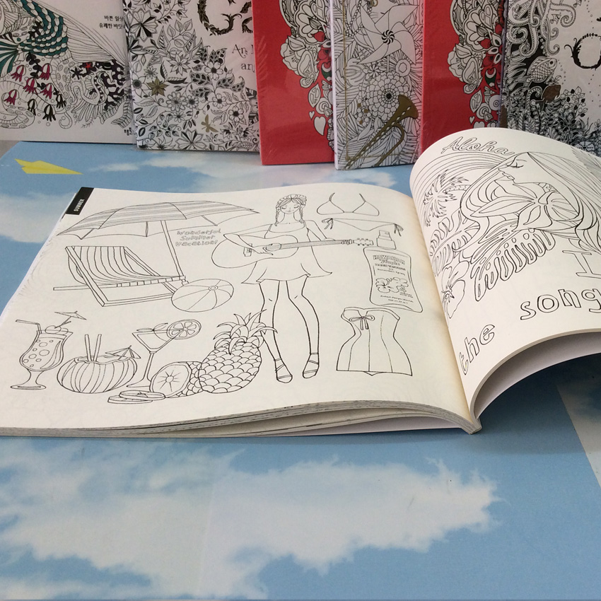 Image 3 - 96 Pages Fashion Anti stress Inky Treasure adult colouring books Secret Garden Painting Drawing Books art coloring books-in Books from Office & School Supplies