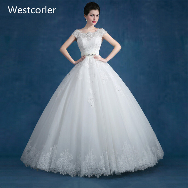 High Quality New Fashion Lace Ball Gown White Plus Size Wedding
