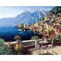 Pinturas a óleo seascape frameless by numbers diy fotos para colorir by número digital em presentes da lona exclusivas decoração 40x50