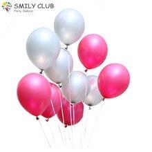 100pcs / lot 12 inch thick 3.2g Pearl latex helium Ballon Wedding Decoration Party Baloon Birthday air ballon Inflatable toys