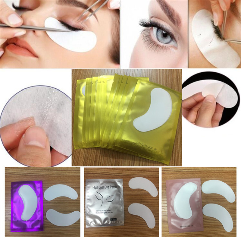 HTB1yTE0AQSWBuNjSszdq6zeSpXas 100pairs/pack New Paper Patches Eyelash Under Eye Pads Lash Eyelash Extension Hydrating Eye Tips Sticker Wraps Make Up Tools
