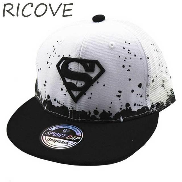 8a98a486c43 Batman Superman Kids Baseball Cap Flat Snapback Hat Boys Girls Hip Hop Hats  Adjustable Adult Point