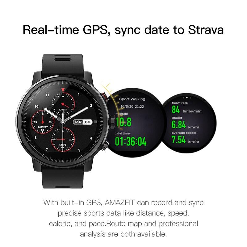 Huami Amazfit Stratos 2 Smartwatch Appel Rappel Bluetooth Musique GPS Support11 Sport Modes 5ATM Étanche Longue Attente Batterie - 4