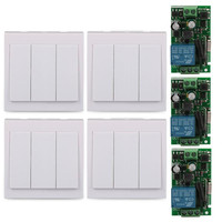 Wall Panel Wireless Module 433MHz Transmitter 433MHz Receiver 3 CH Transmitter Switch